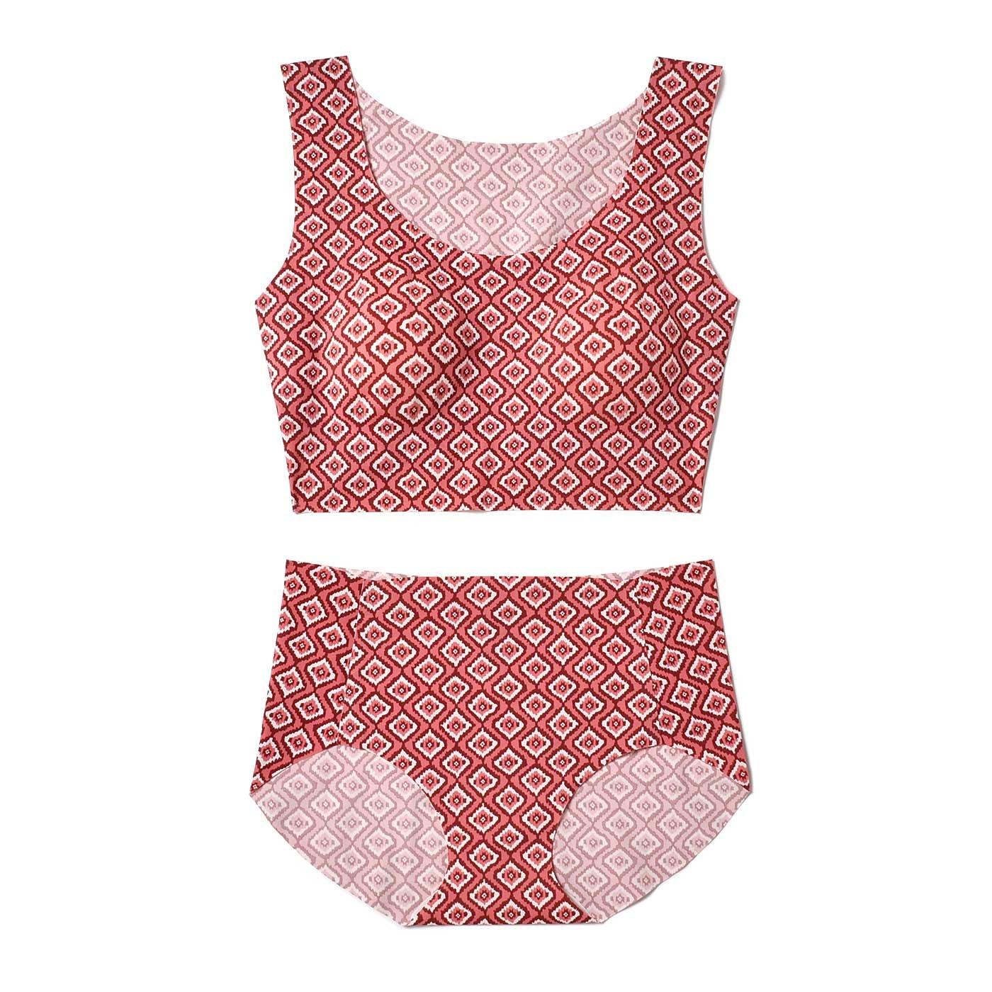縫い目なしの心地よさ 大人フレンチスタイルが自慢のブラ&ショーツ〈ピンク〉