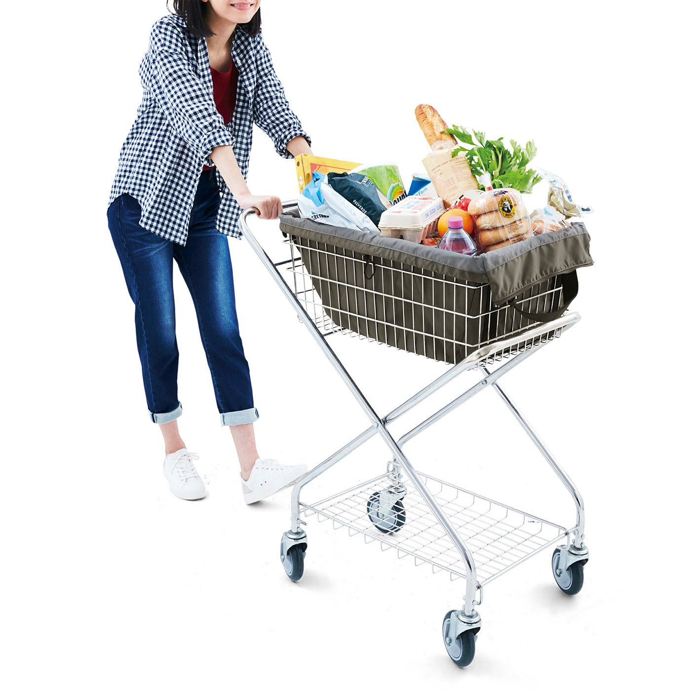 セルフレジなどショッピングカートに直接セットしても!