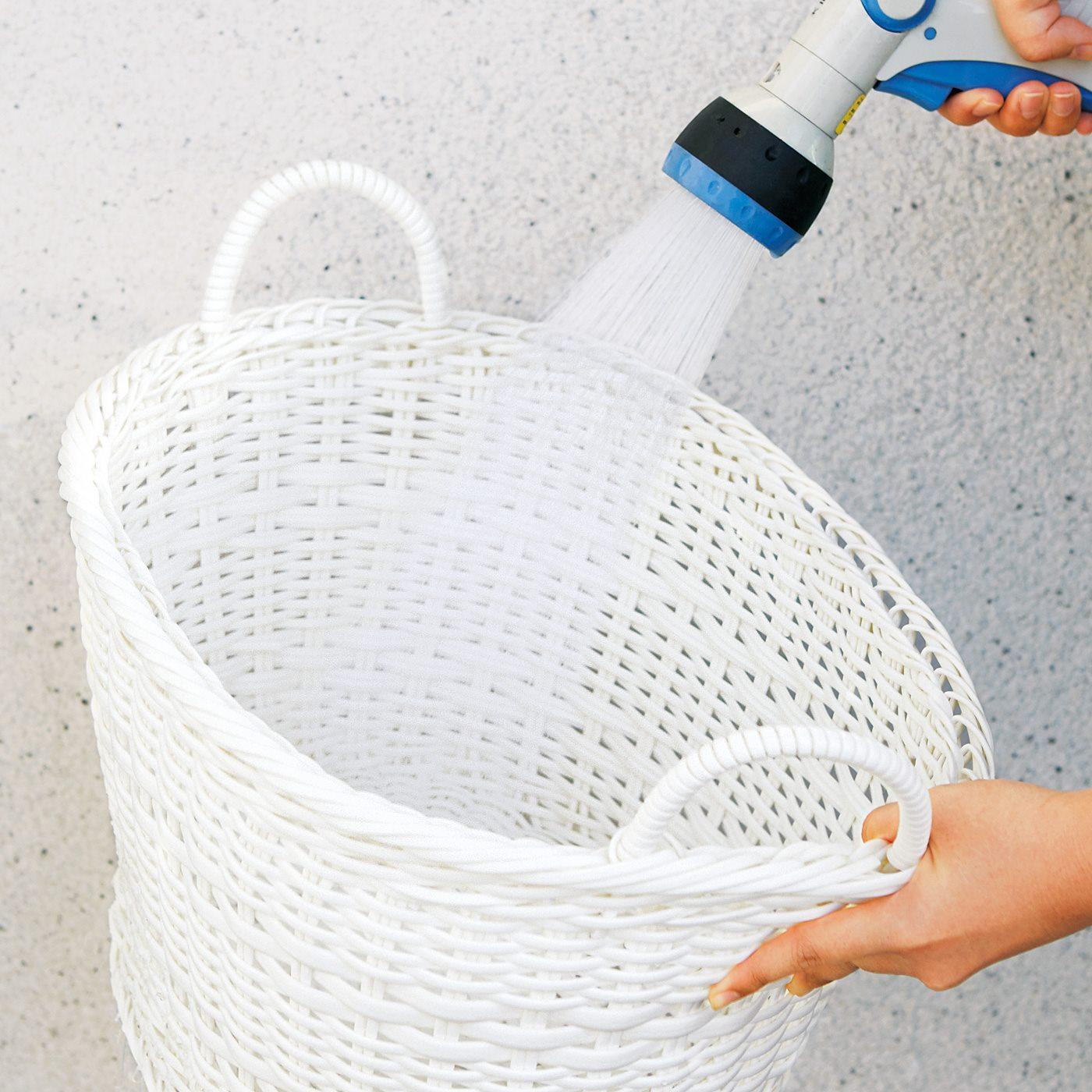 水洗いできて清潔に使えるポリプロピレン素材。