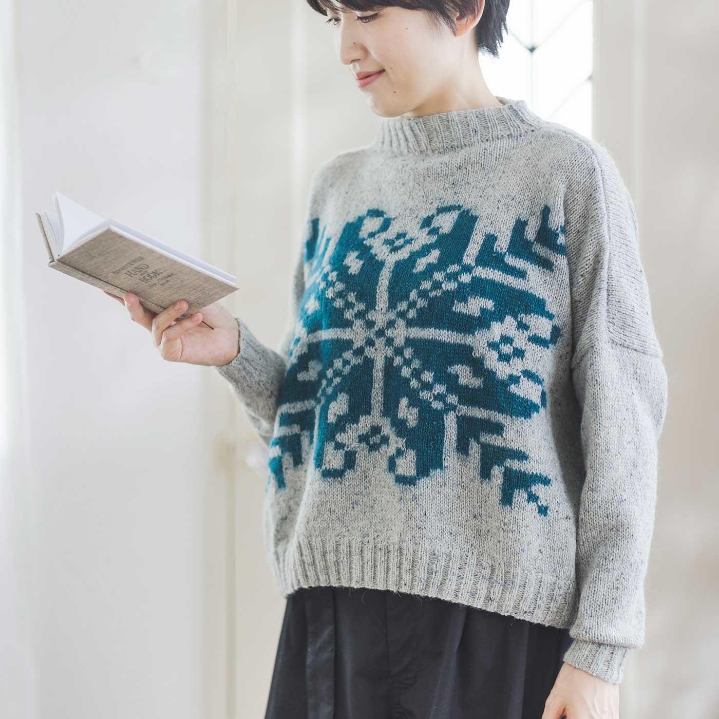 ROWAN アルネ&カルロスデザイン エイトスターの棒針編みクロップドセーター