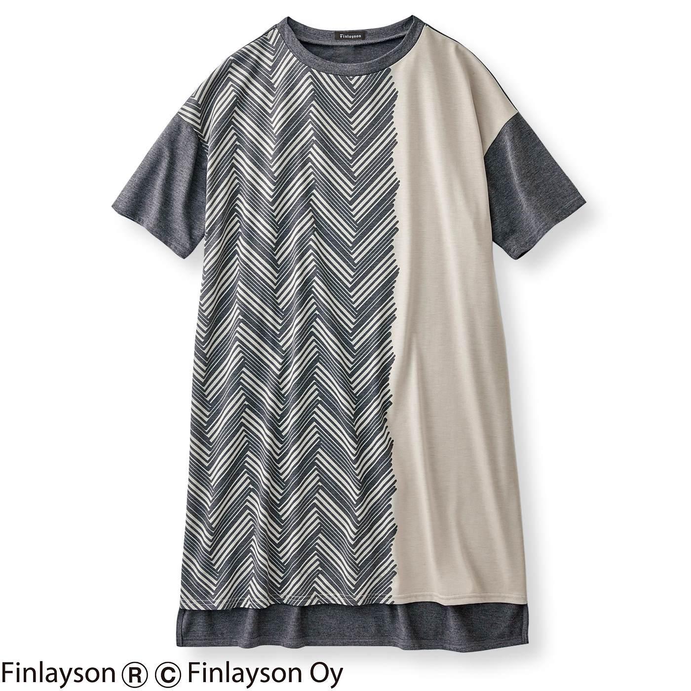 【3~10日でお届け】フィンレイソン  大きなTシャツみたいなチュニックワンピース〈シクサク〉