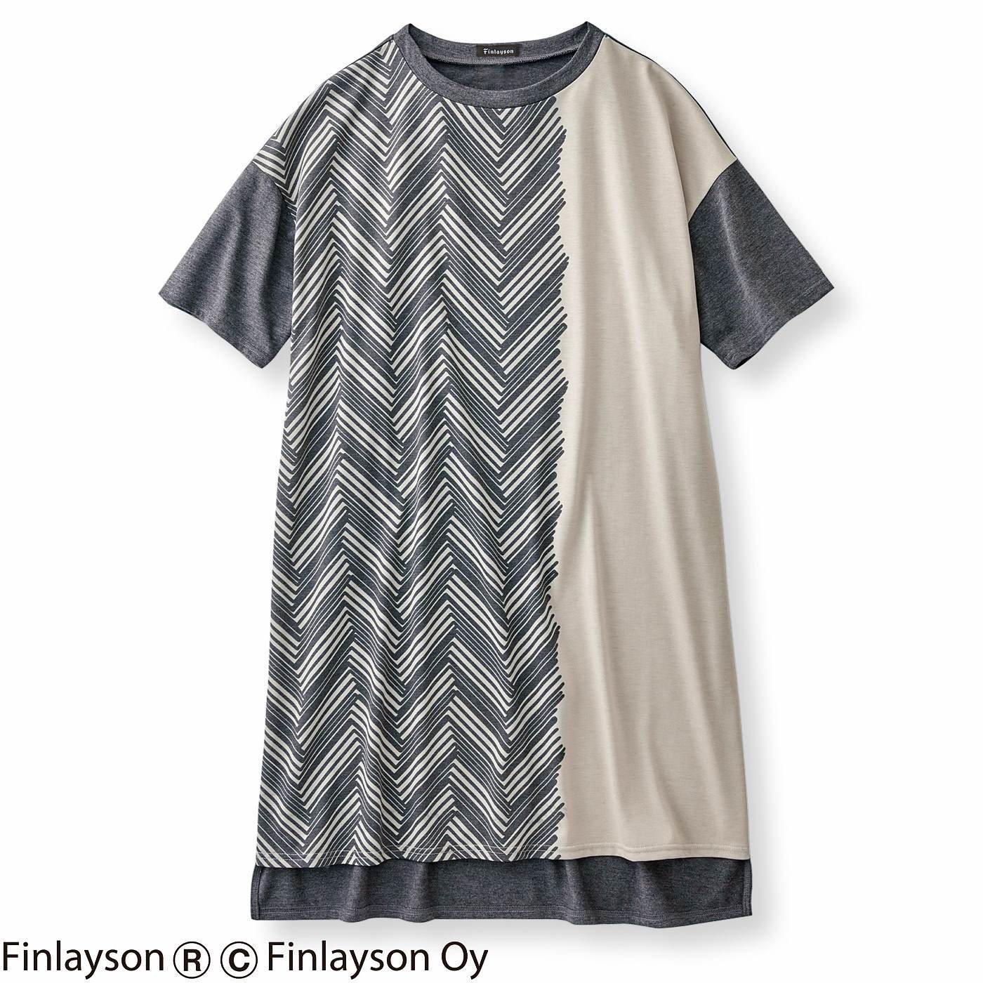 フィンレイソン  大きなTシャツみたいなチュニックワンピース〈シクサク〉