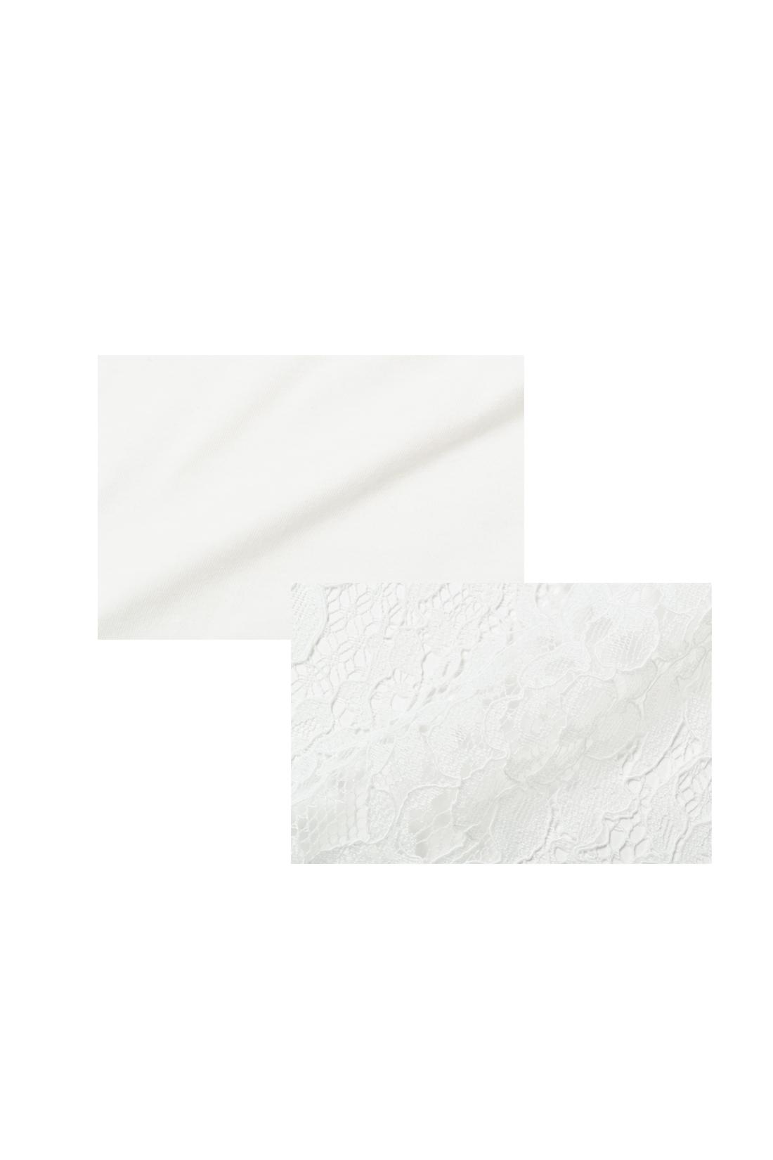 トップスは豪華な総レース。タンクトップは綿混素材で心地よく。 ※お届けするカラーとは異なります。