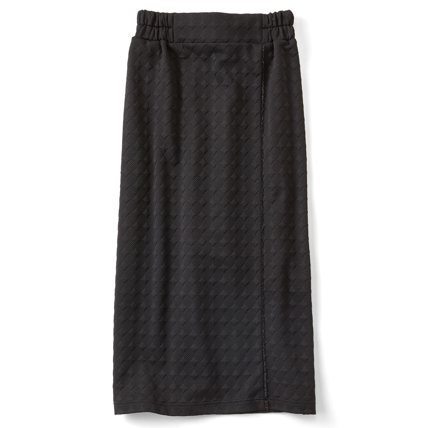 きれいIラインのカットソータイトスカート〈ブラック〉