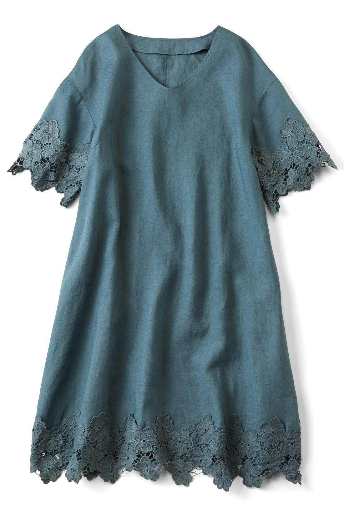 [ブルーグレー]モードなブルーグレー。ほどよい厚みのある綿麻素材です。