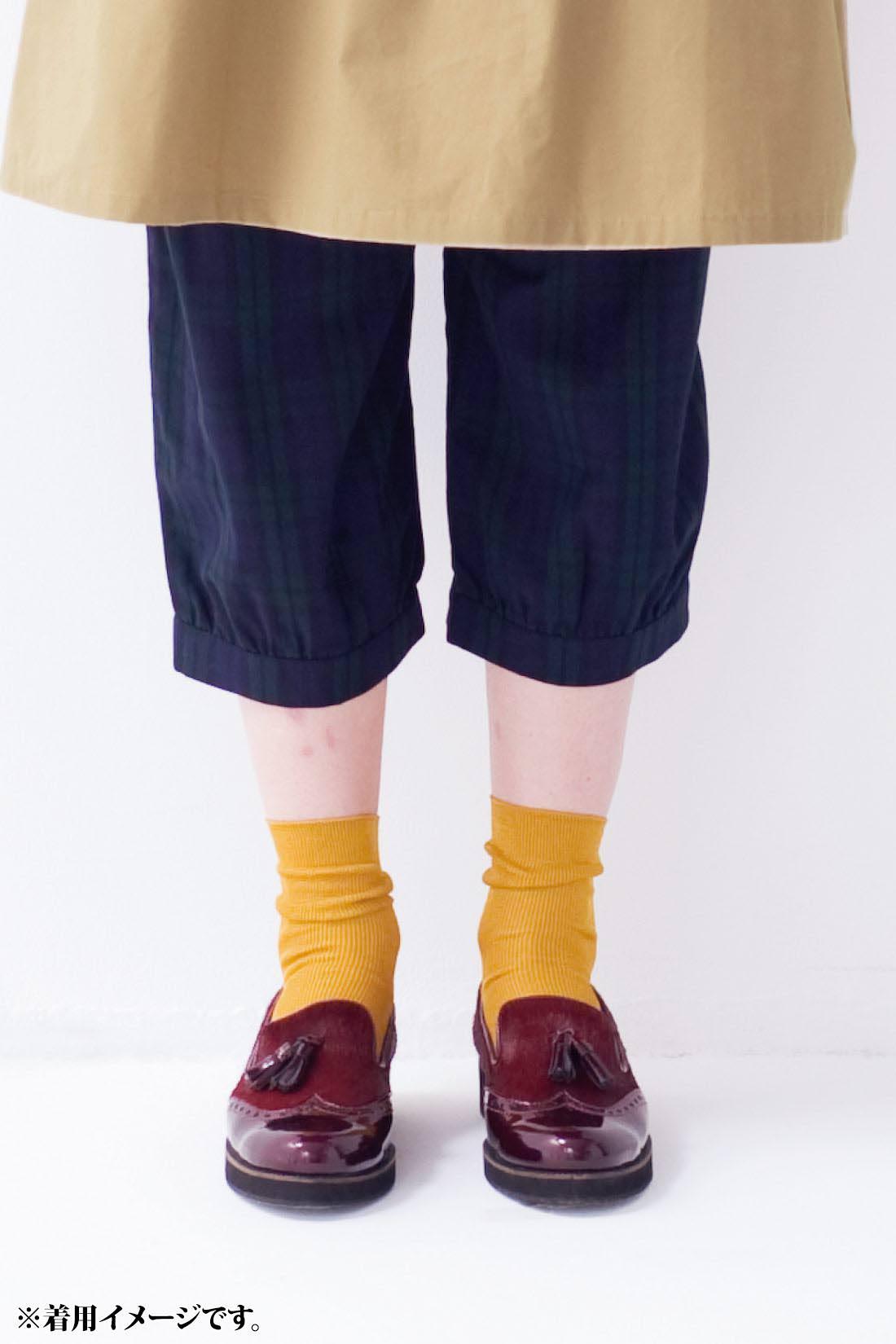 [半端丈がかわいいね。]ひざこぞうよりちょっと下くらいの丈感です。