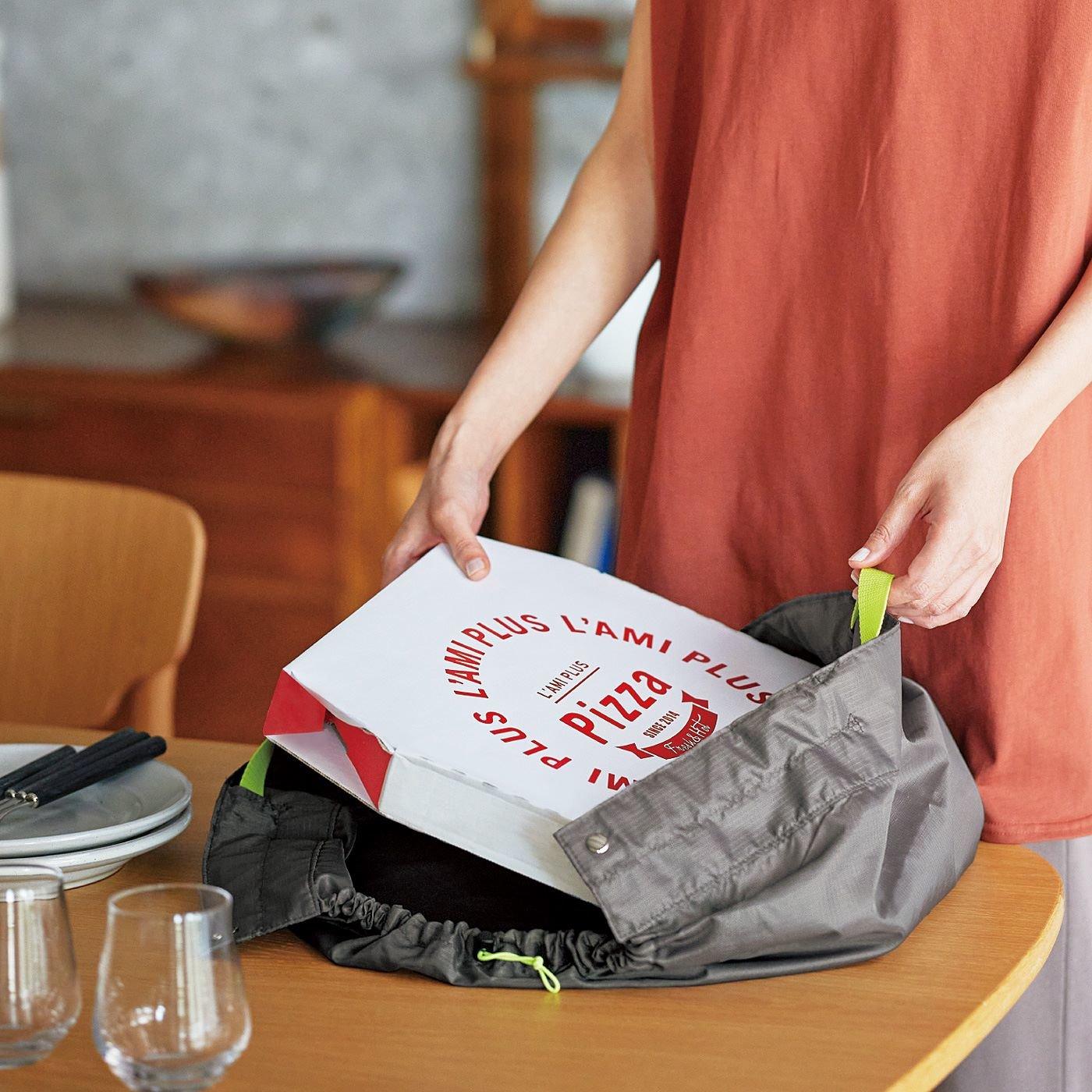 ラミプリュス お弁当もピザもお寿司もお持ち帰りOK 風呂敷みたいなエコバッグの会