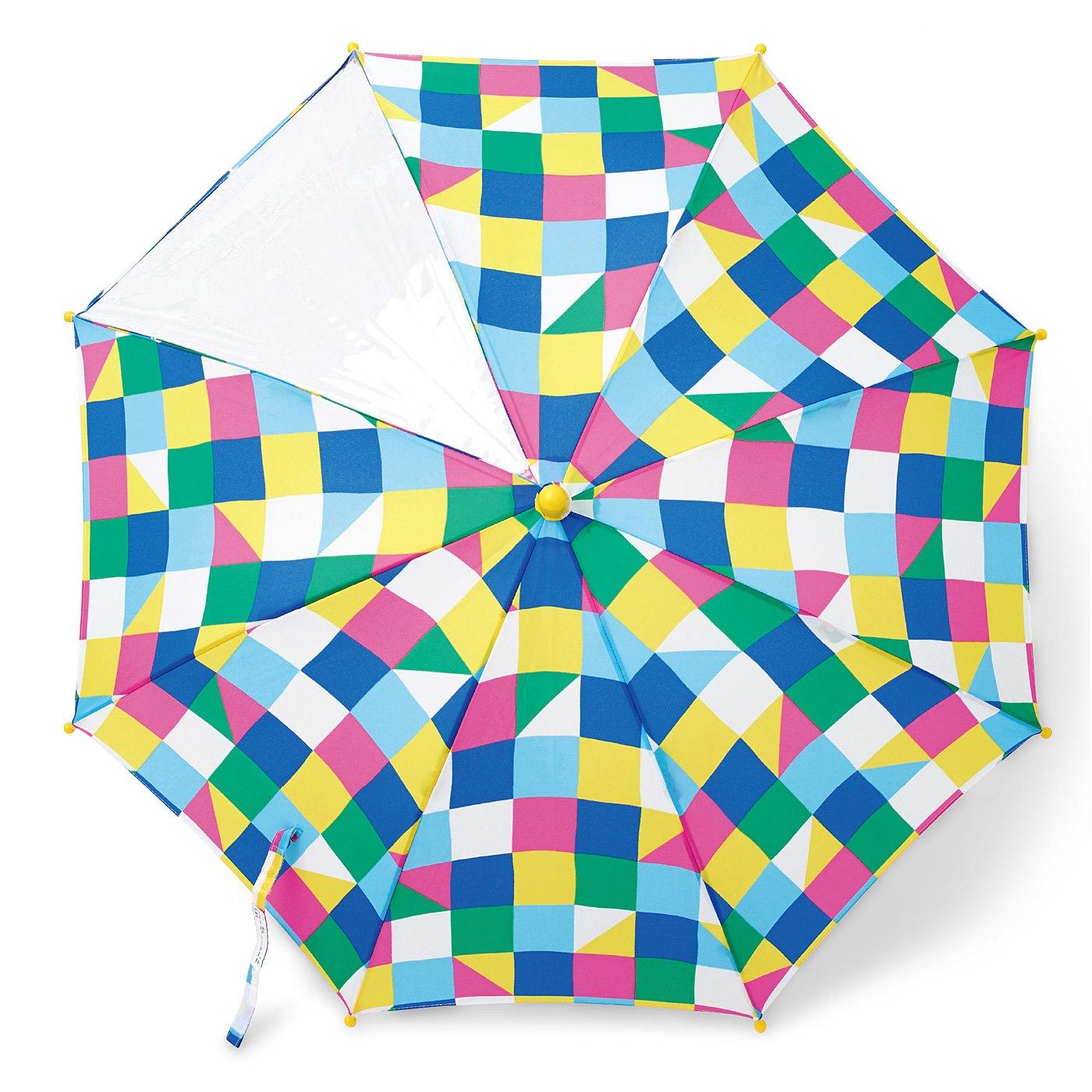 カラフルなブロック柄が目をひく、ポップなデザイン。丸いつゆ先だから安全。見た目もかわいい!