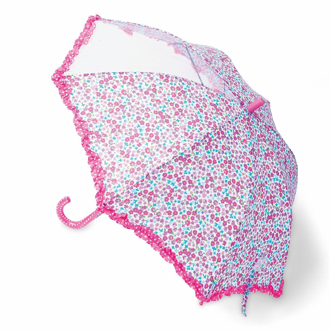 雨の日もワクワク キッズ傘 フレンチ小花柄