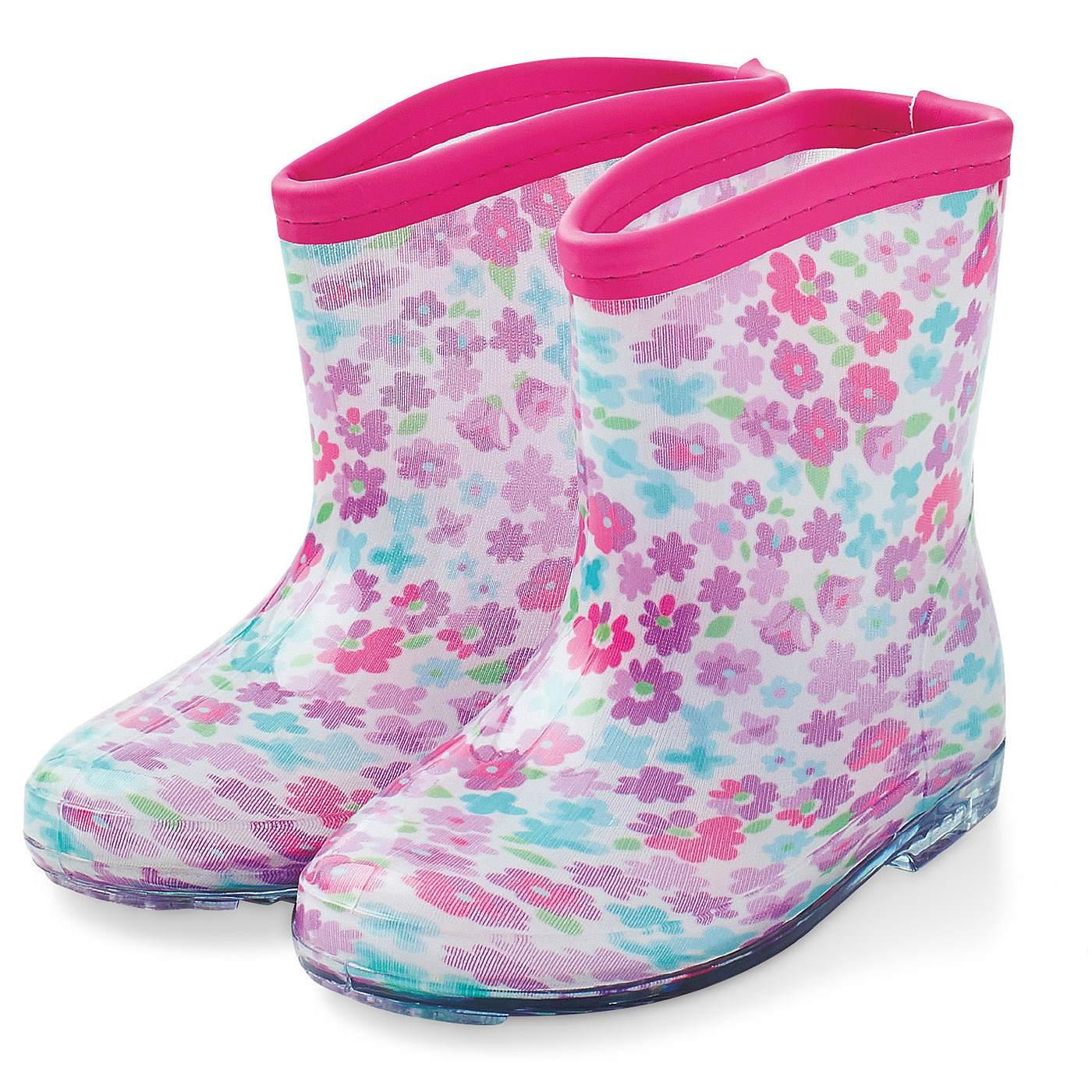 雨の日もスキップ キッズレインブーツ フレンチ小花柄