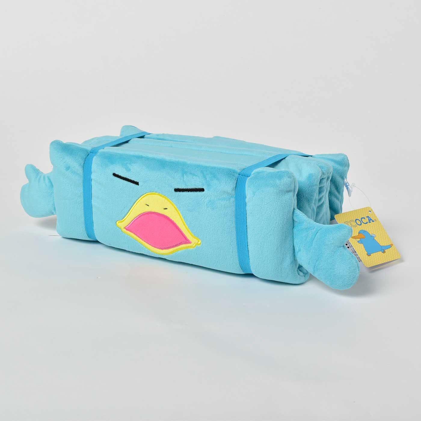 [JR西日本]カモノハシのイコちゃん 折りたたみクッション