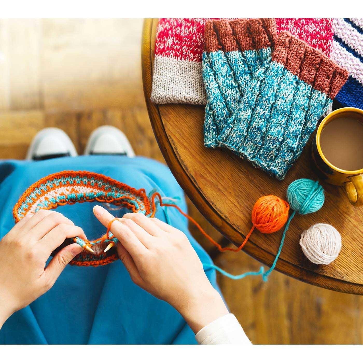 わかるとすいすい! 「はじめてさんのきほんのき」輪針で編む実用小物