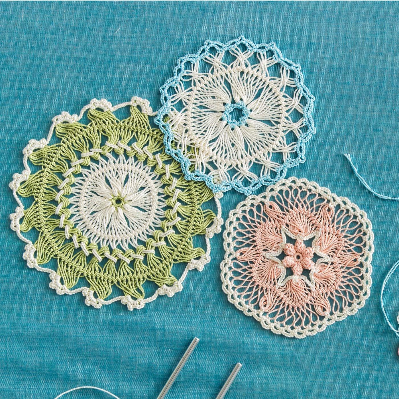 繊細に重なり合う糸が美しい「はじめてさんのきほんのき」ヘアピンレース