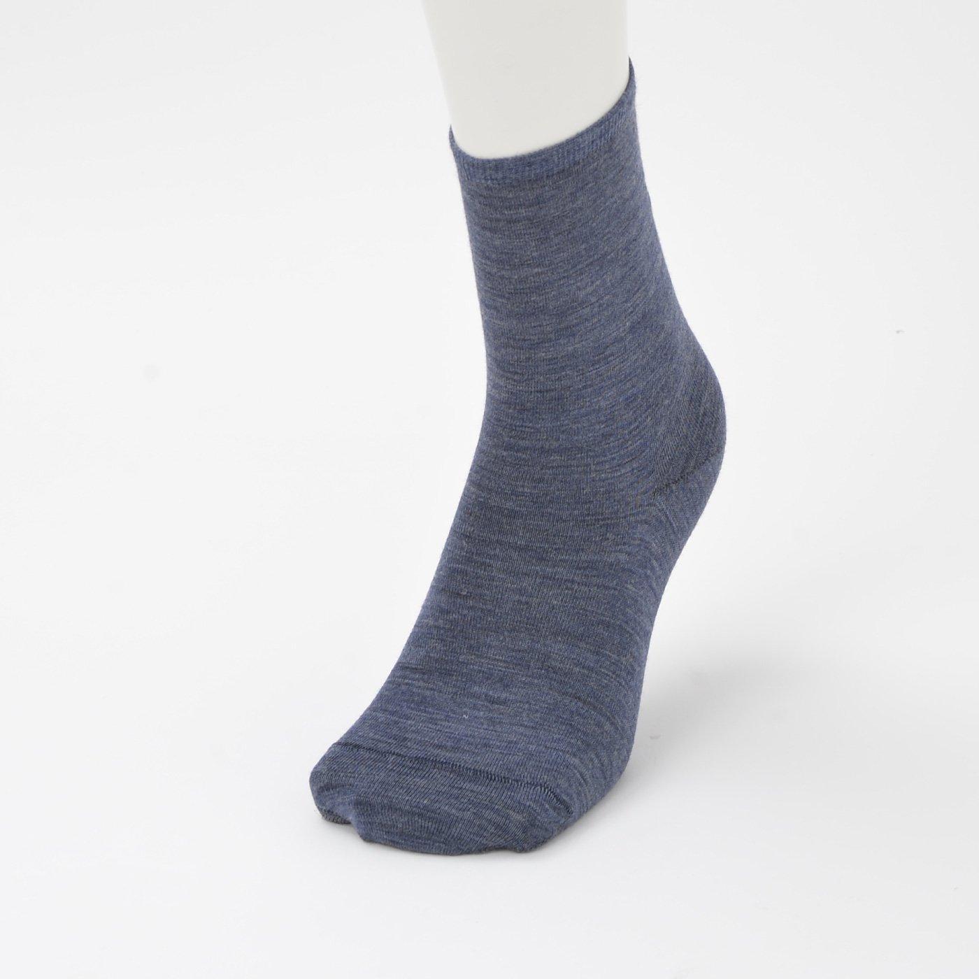 ウール&断熱繊維で薄くても暖かなソックス