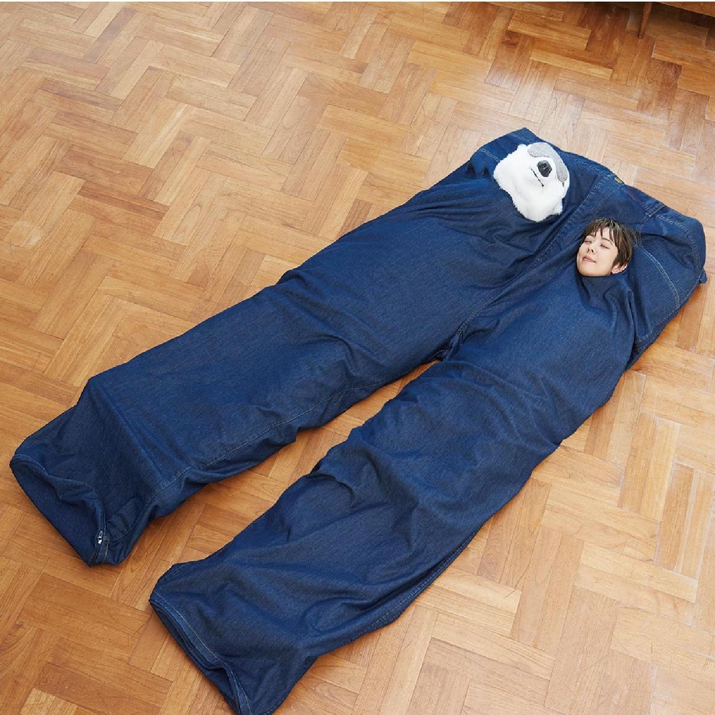 フェリシモ リブ イン コンフォートぬくぬく包まれてしあわせな裏ボア超ビッグ寝袋セット〈二人用〉