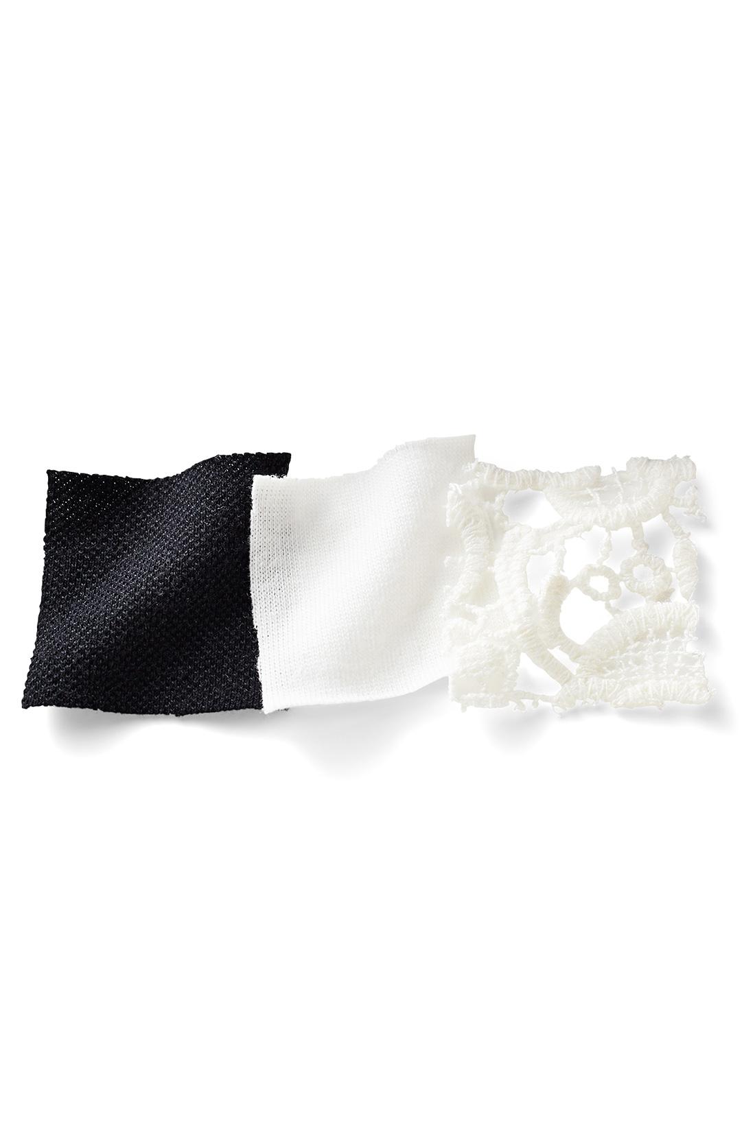 おうち洗いOKでアイロン要らず 着心地よくきちんと感もある、のびやかなかのこ素材。タンクトップはしなやかな肌心地のきれいめカットソーに、綿100%の上品レースを付けました。