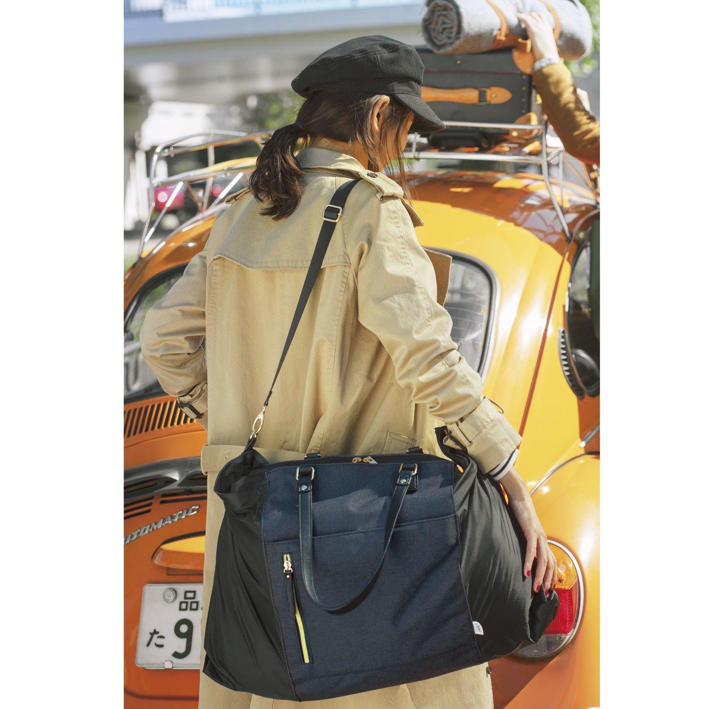 サブバッグいらず荷物に合わせてサイズが変わるサイドロールバッグ
