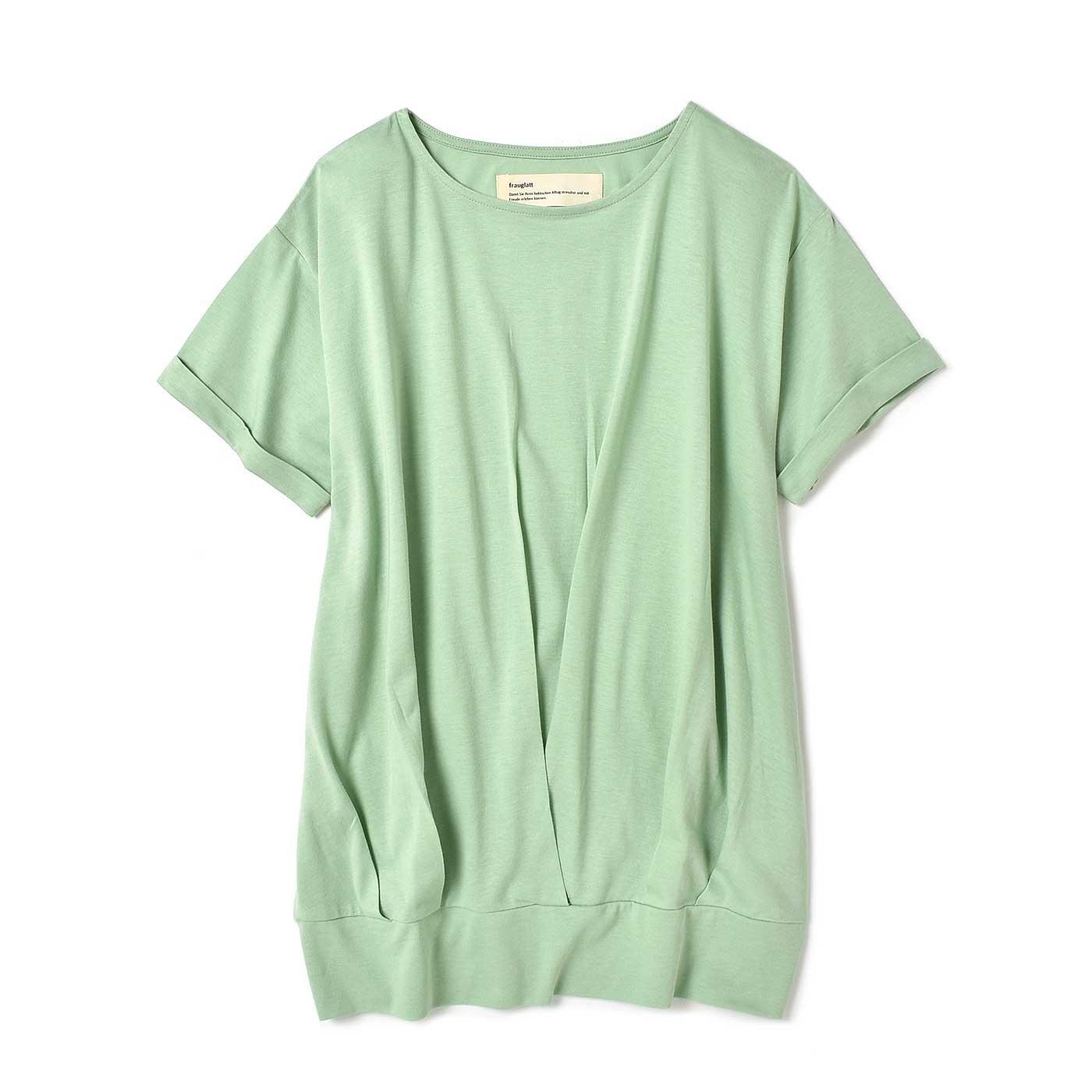 フラウグラット 一枚でコーデOK! Tシャツ素材の汗じみ対策チュニック〈29〉