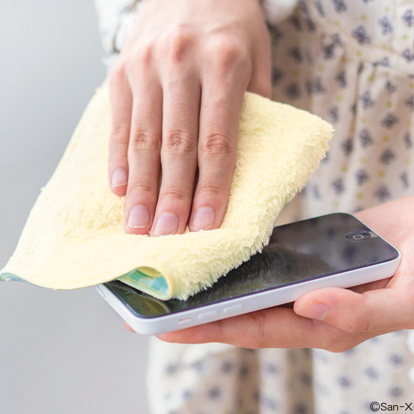 スマートフォン画面のくもり磨きにもぴったり。