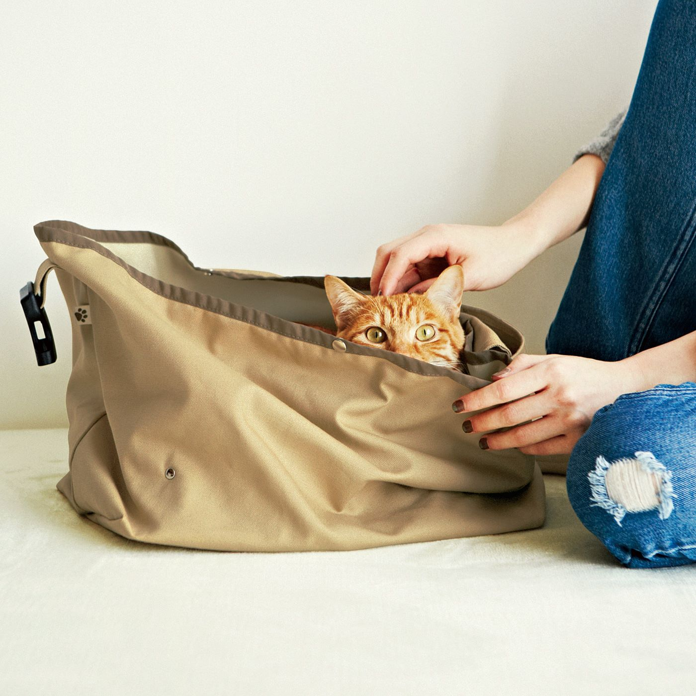 フェリシモ 抱っこするように一緒に行動できる キャットキャリーバッグ