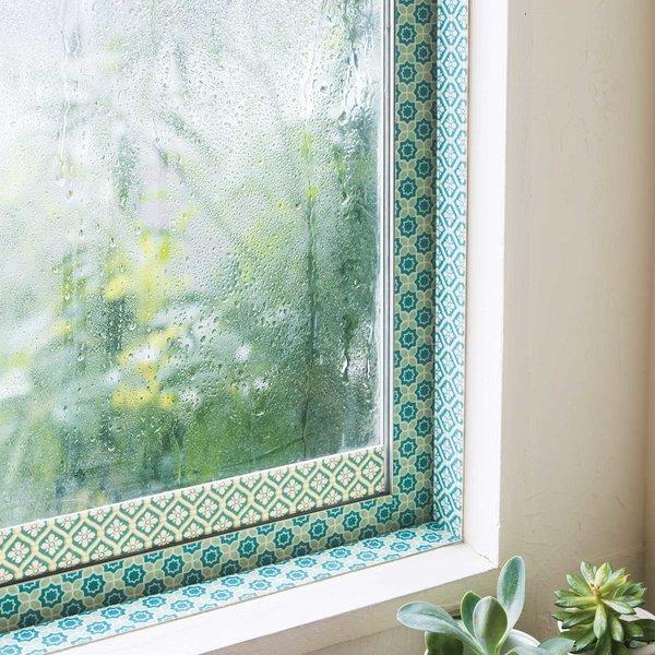 窓辺の印象をチェンジ グリーンが心地よい 結露防止テープの会