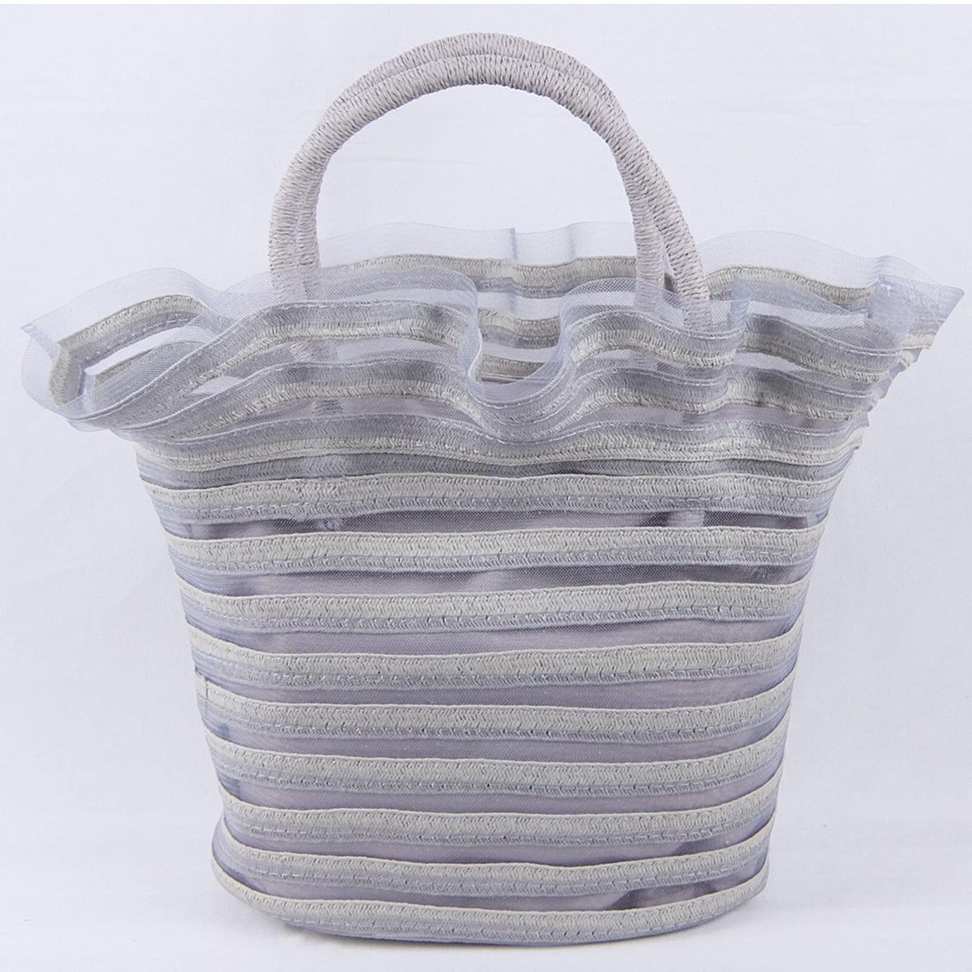 IEDIT[イディット] SELECT 異素材ミックスのフリルバッグ