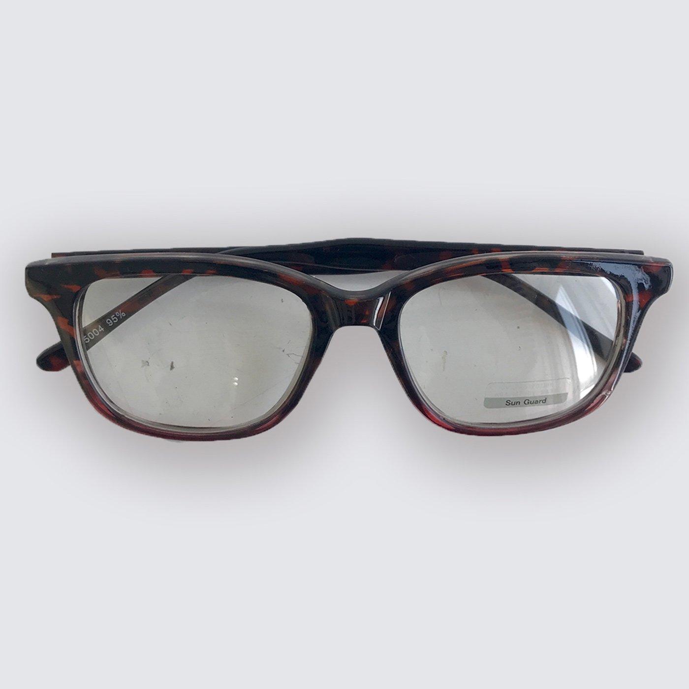 IEDIT[イディット] SELECT べっこう調フレームのクリアファッション用グラス〈デミ×ピンク〉