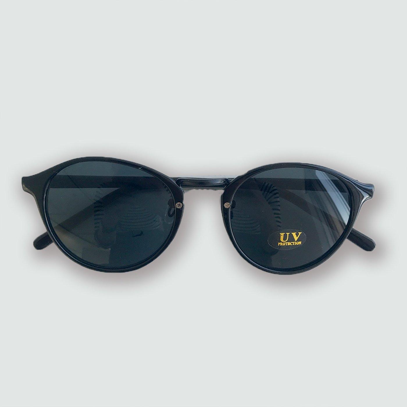 IEDIT[イディット] SELECT ラウンドフレームファッション用グラス〈ブラック〉
