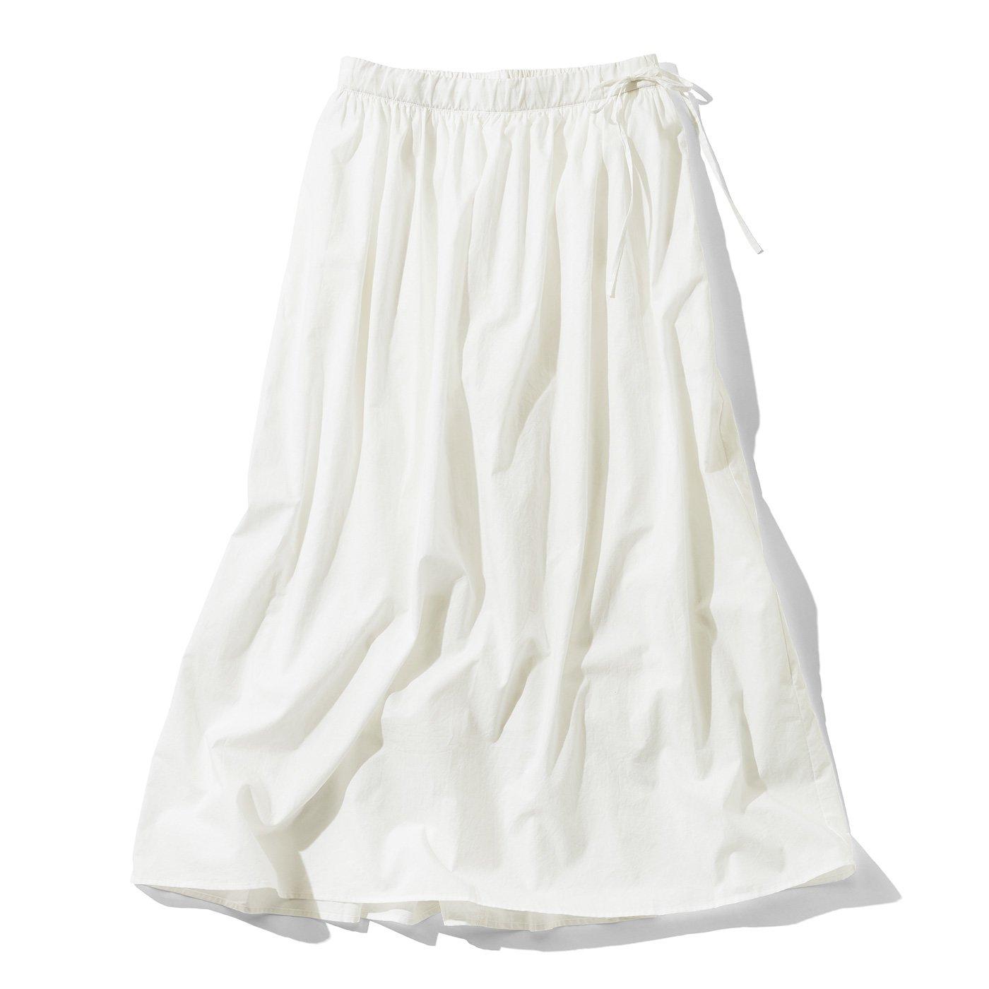 THREE FIFTY STANDARD 金子敦子さんと作った 真っ白なギャザースカート