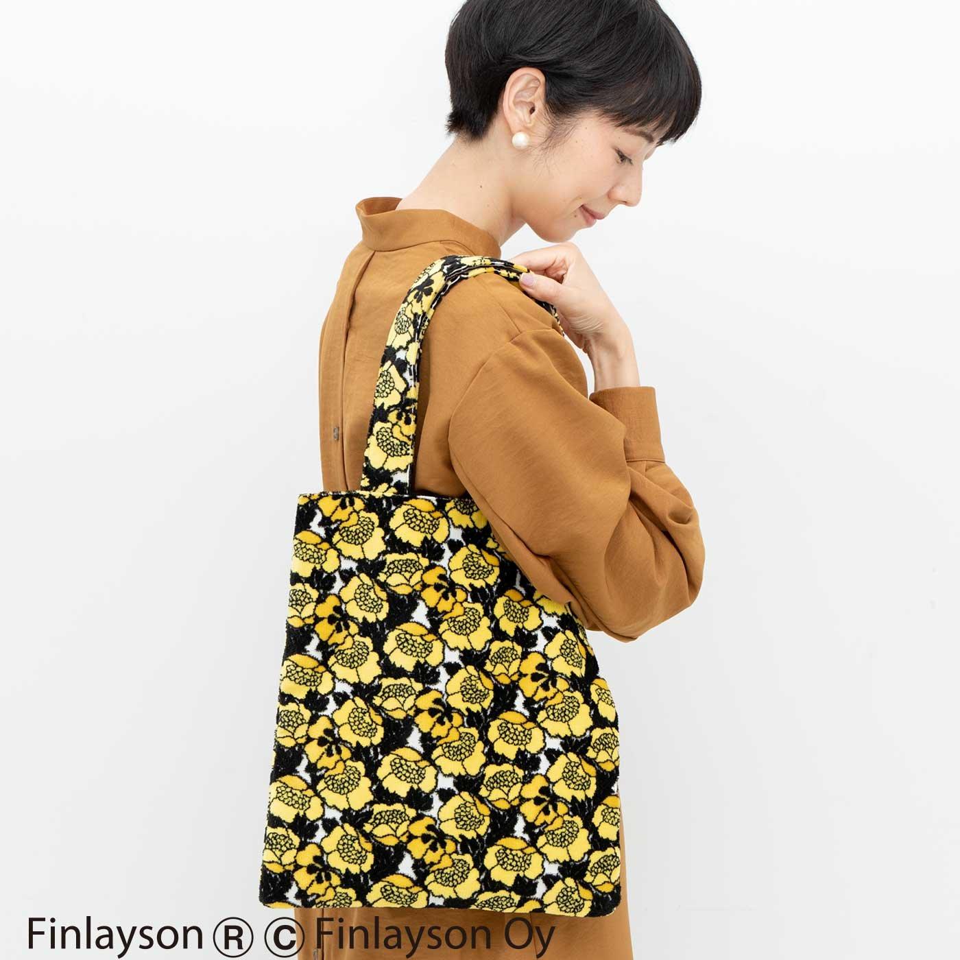 Kraso×フィンレイソン 金華山パイルジャカードの華やか立体織りトートバッグ〈ANNUKKA〉