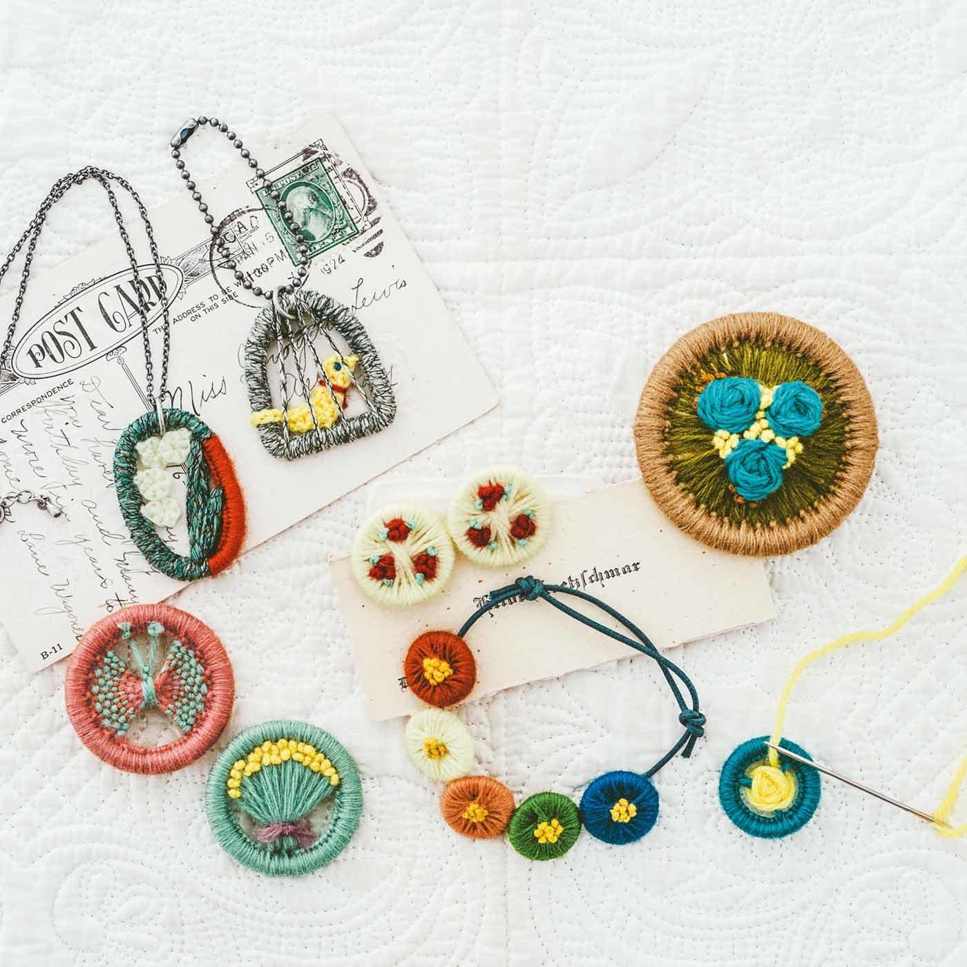 小さな宝物 手軽に作れる リングワークの毎日小物