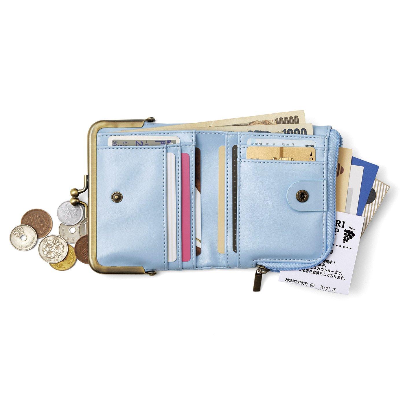がま口とL字ファスナーが魅力 しあわせそらいろの手のり財布