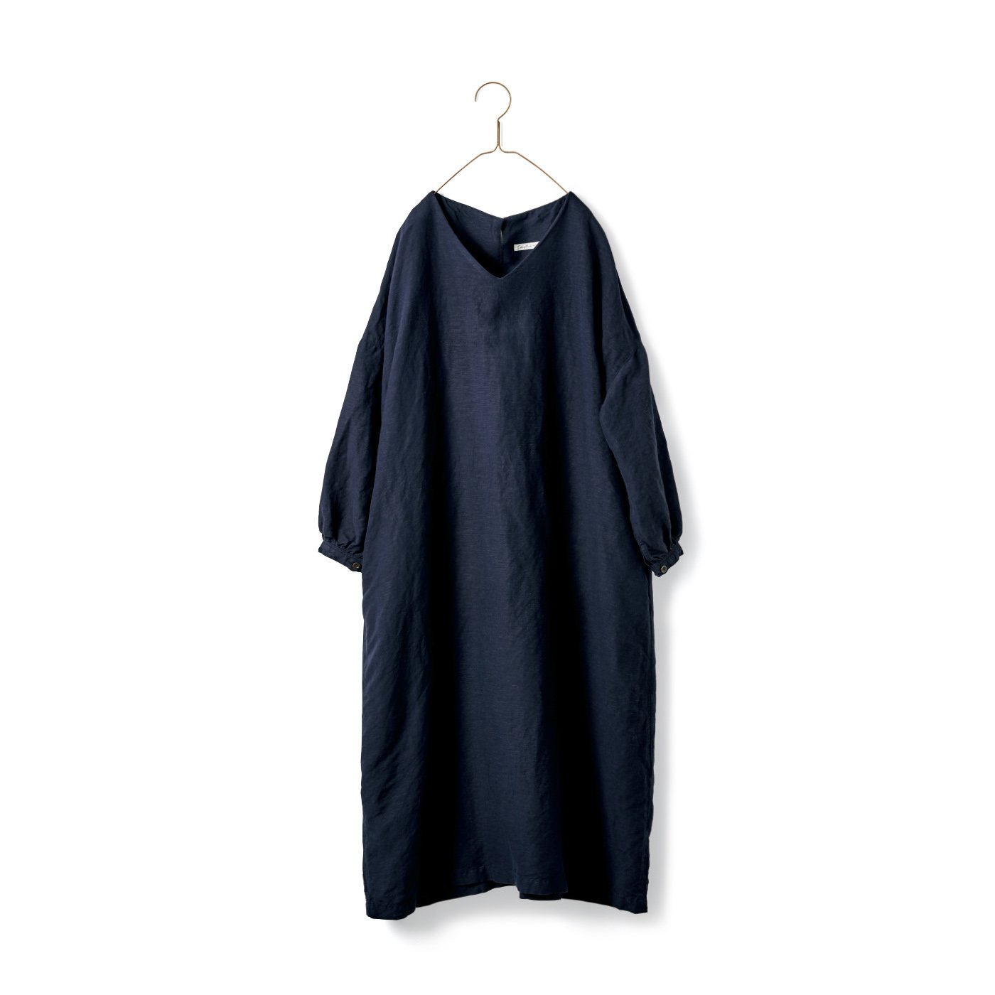 サニークラウズ Vネックのサックドレス〈レディース〉ネイビー