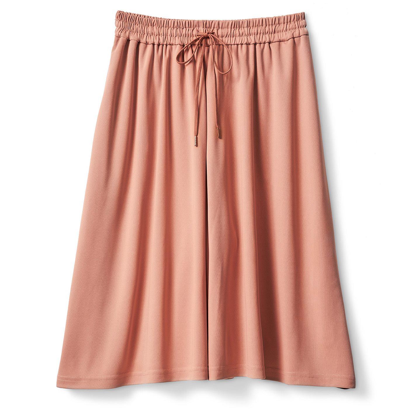 DRECO by IEDIT 仕事は部活だ!吸汗速乾でさらり快適な 本当にスカートに見えるスカーチョ<ダスティーピンク>