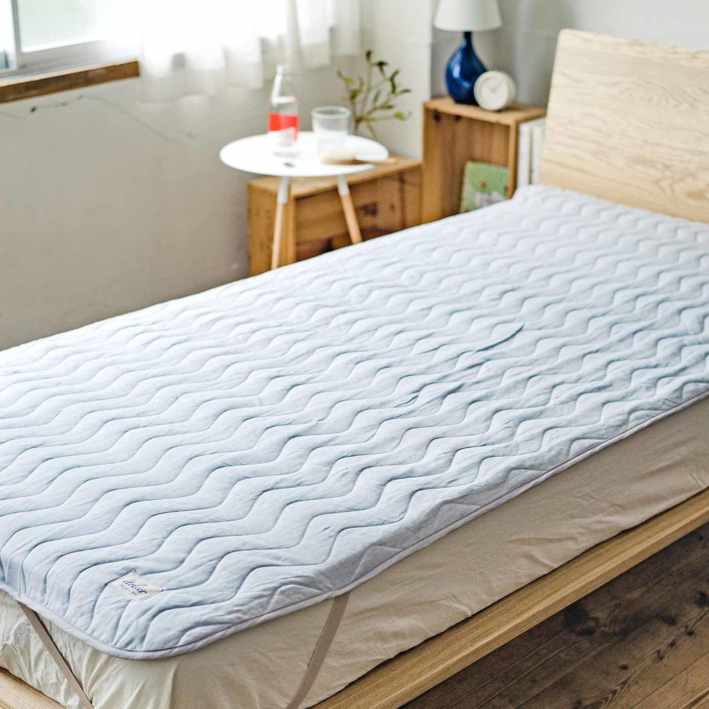 イトリエ ヨーロッパ産上質リネンを織り上げた さらっと肌心地が眠りにいざなうリネン敷きパッド