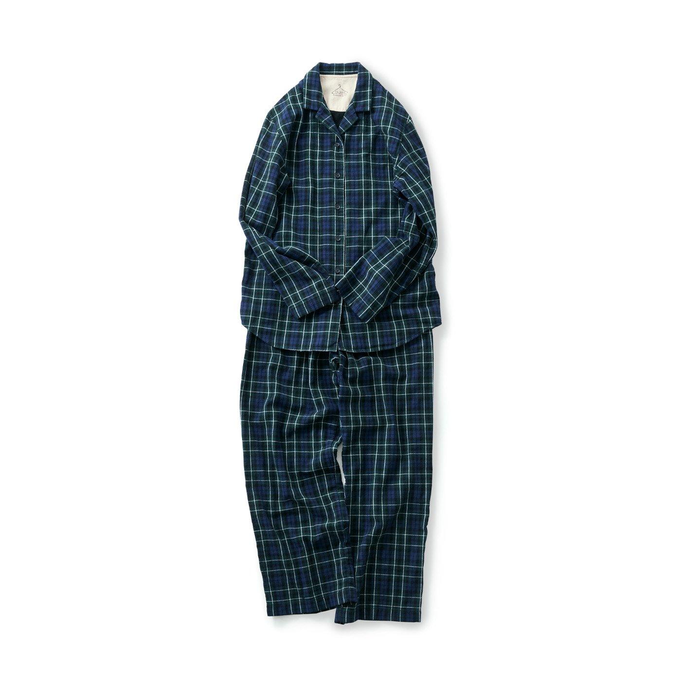 サニークラウズ チェックのパジャマ〈レディース〉