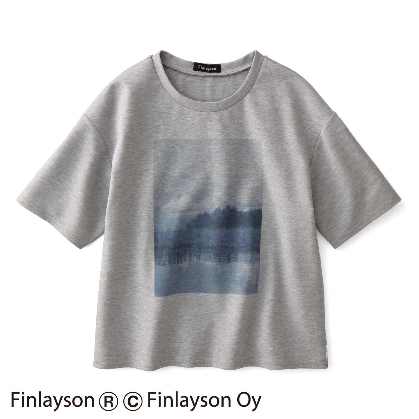 シロップ.×フィンレイソン フロントプリントTシャツ〈MAISEMA〉