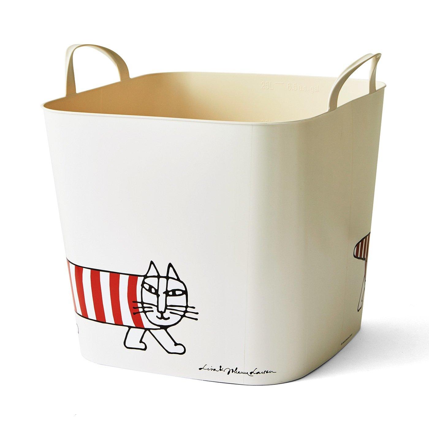 リサ・ラーソン 収納にもお洗濯にも使える 洗えるお片づけバケット