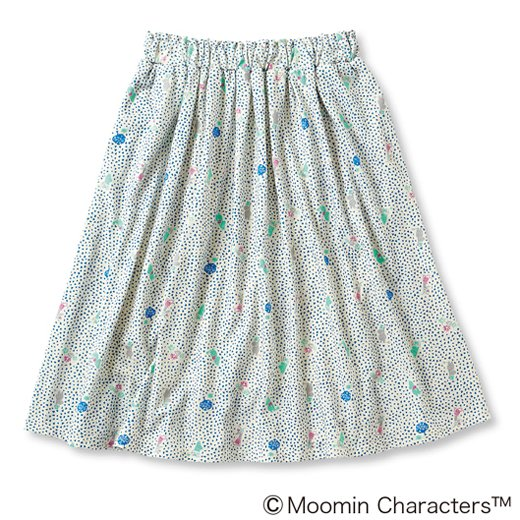 ムーミンと仲間たち やわらかカットソーのスカート(コバルトブルー)