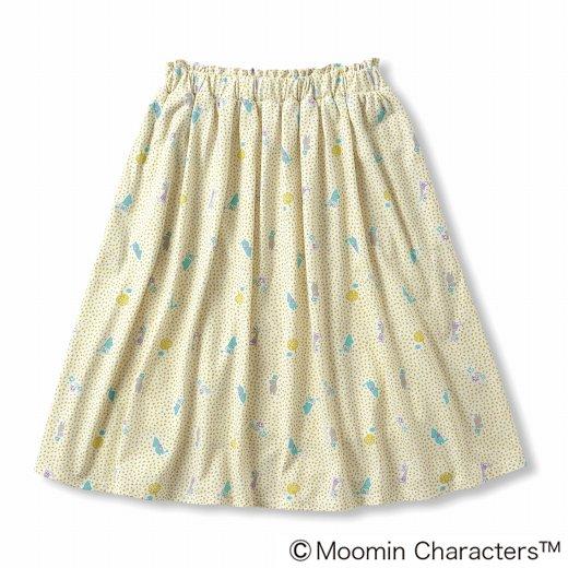 ムーミンと仲間たち やわらかカットソーのスカート(ミモザイエロー)