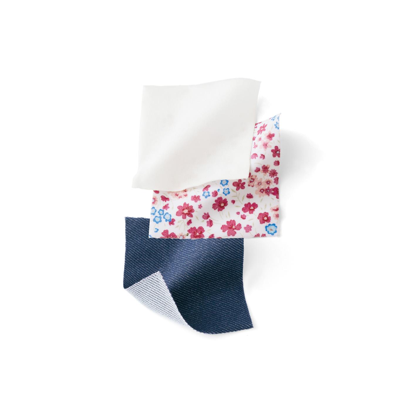 綿のような水着素材で洋服感アップ!