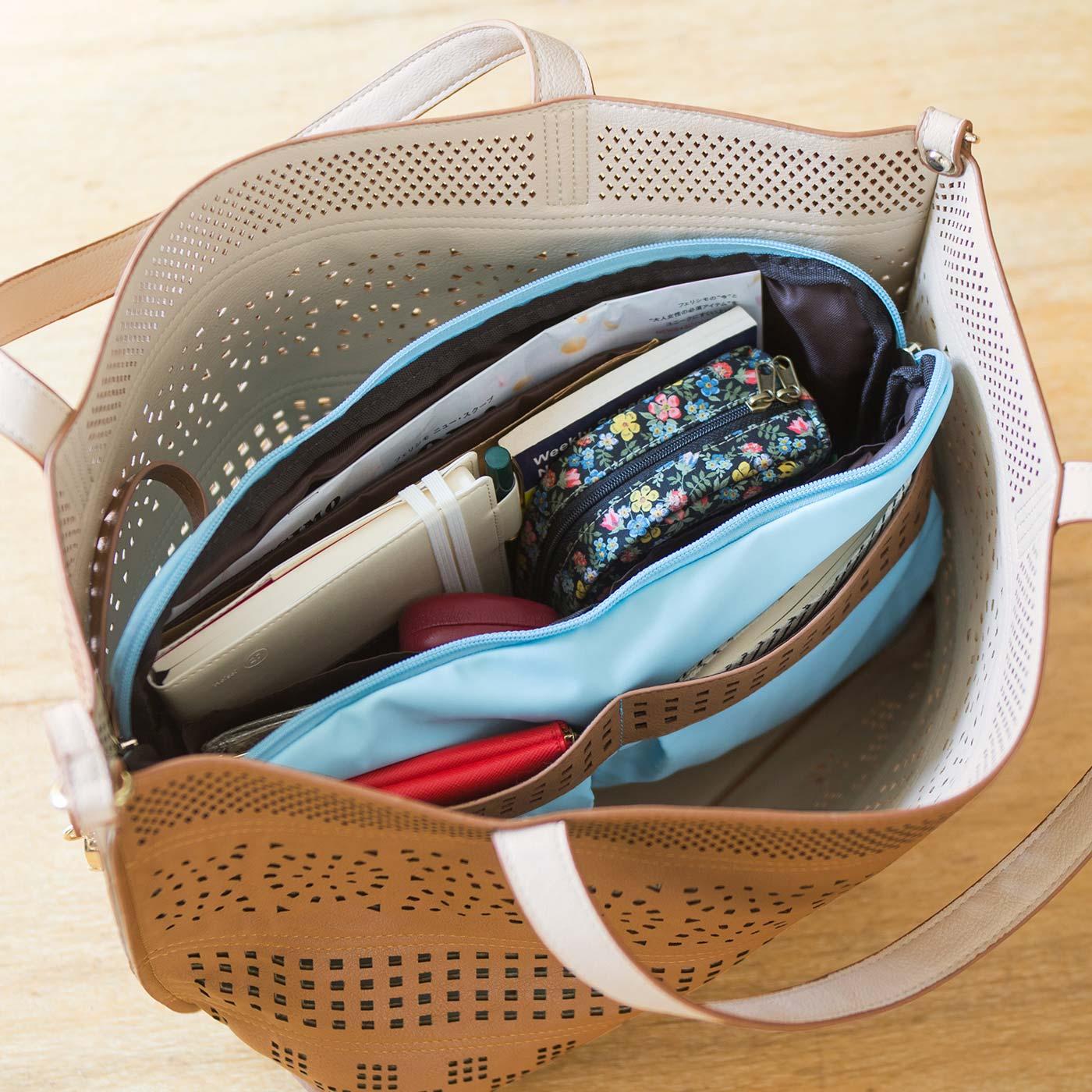 これひとつでバッグの中をきれいに整とん。