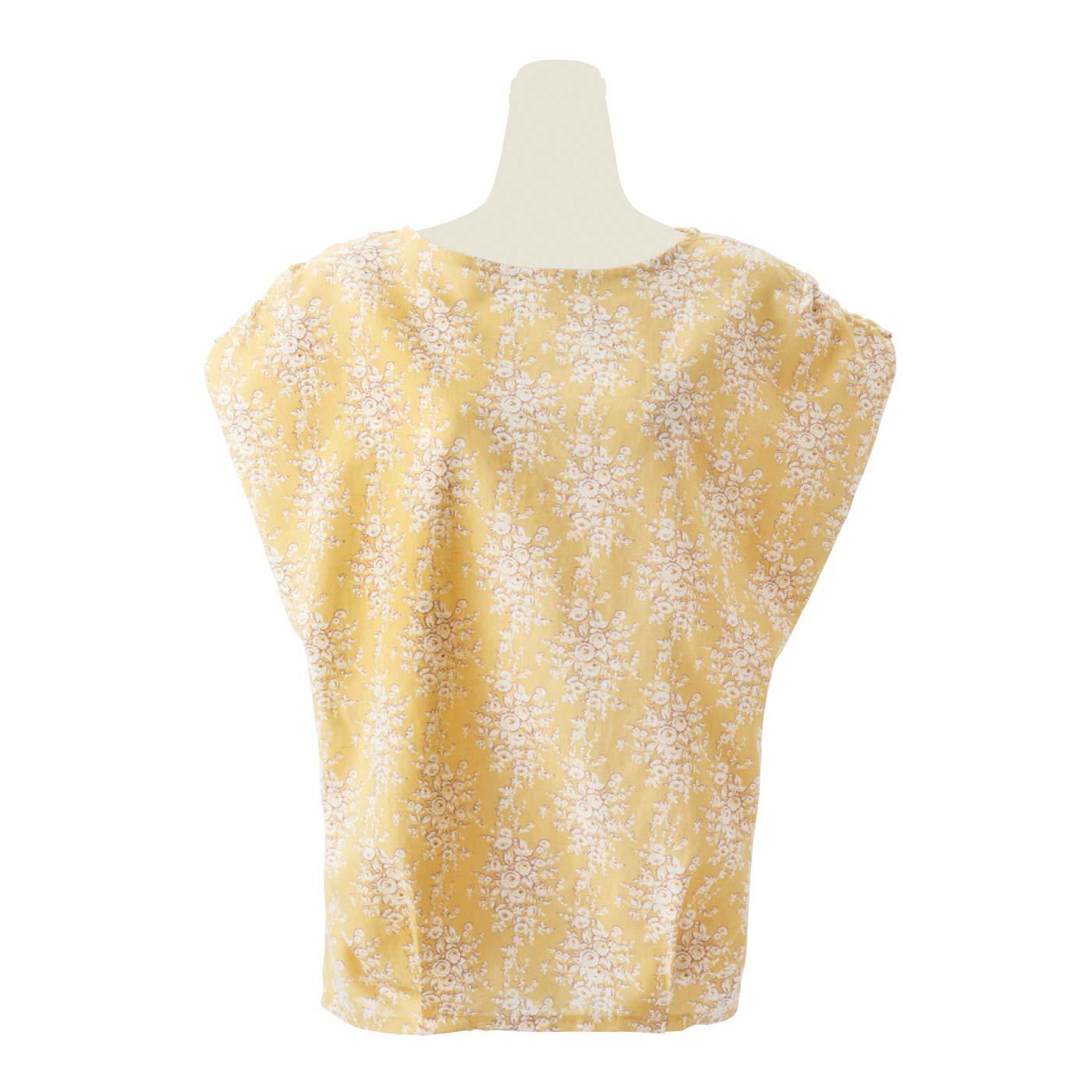 フランスのアンティークテキスタイルを復刻 涼しげ綿麻美シルエットなトップスの会