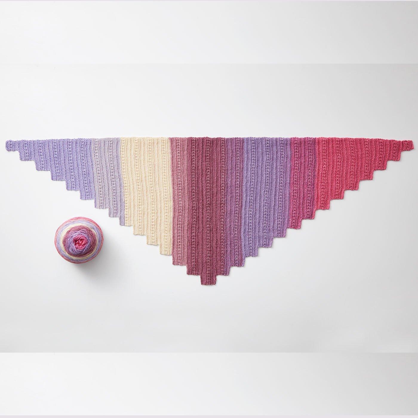 色の変化が楽しい マルチカラー毛糸 REVELATION(レベレーション)ストールのレシピ付き