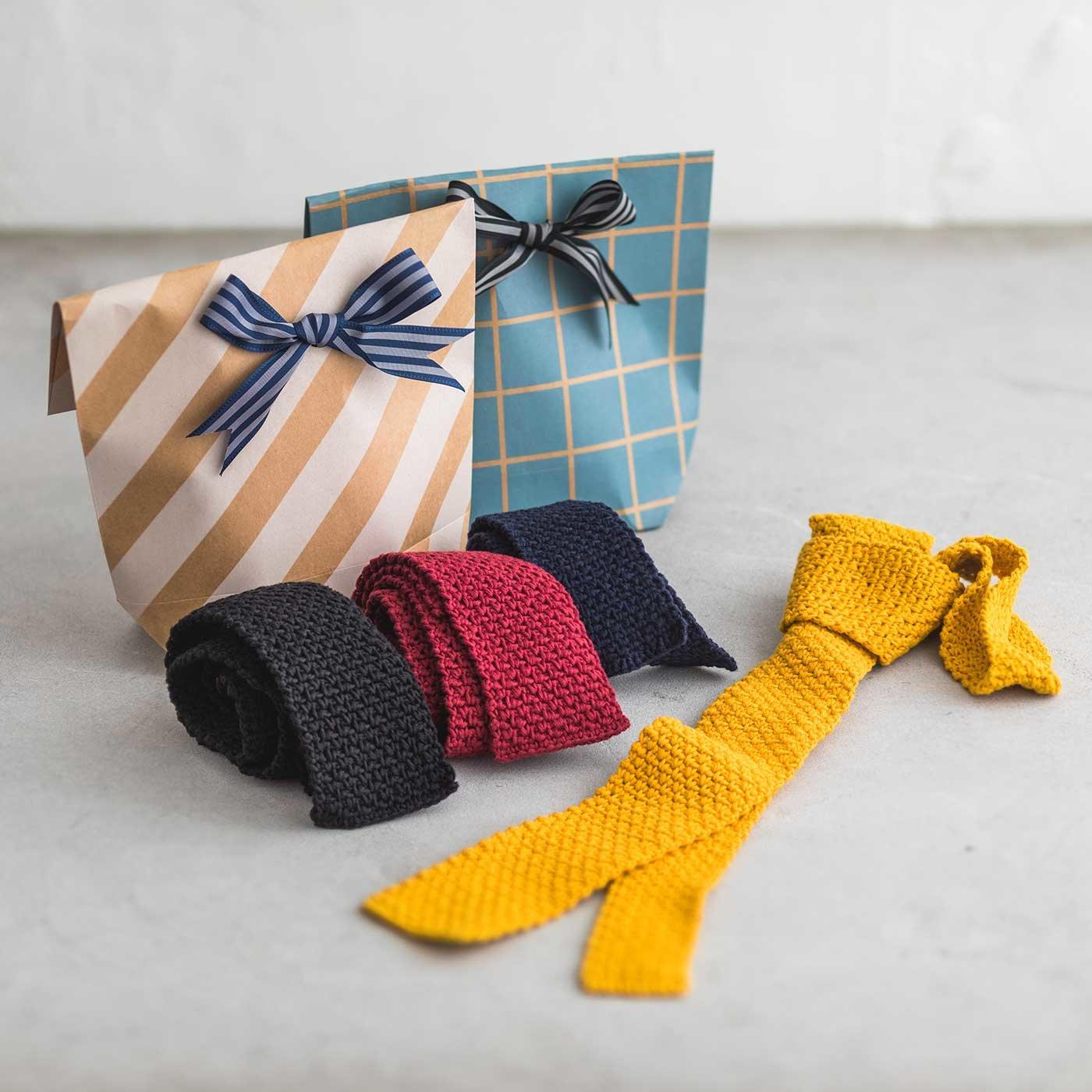 大切な人へ贈りたい かぎ針で編む ツール付きTIE KIT(タイ・キット)