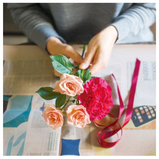 自分でプロみたいなブーケが作れるように。お庭のお花も大切な人にプレゼント。