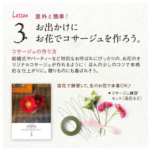 Lesson3 意外と簡単! お出かけに お花でコサージュを作ろう。