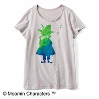 フェリシモ ムラ感がかわいい 水彩風プリントTシャツ〈スナフキン〉