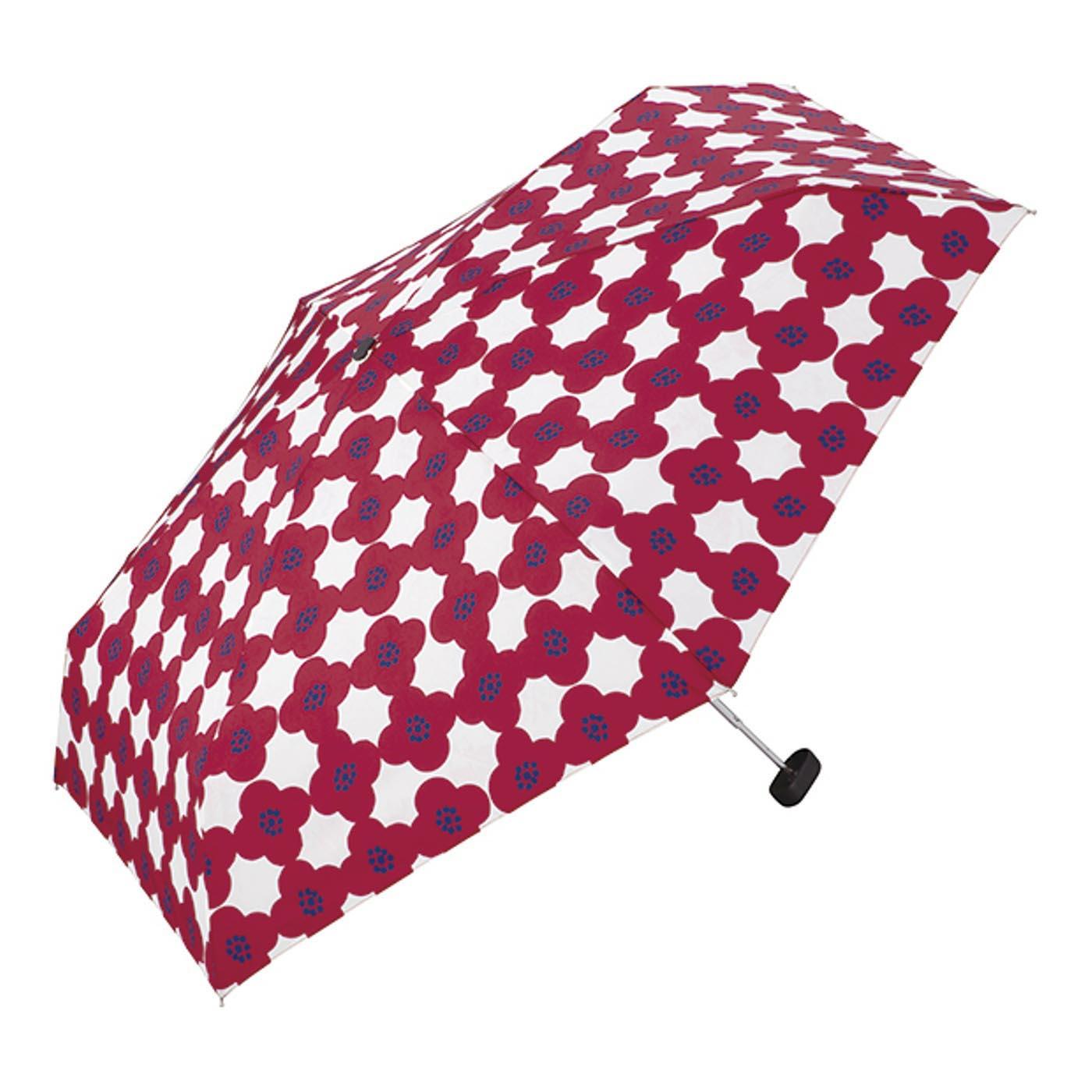 クラッチ風ケースでサッと収納 コンパクトな折りたたみ傘〈カメリア〉
