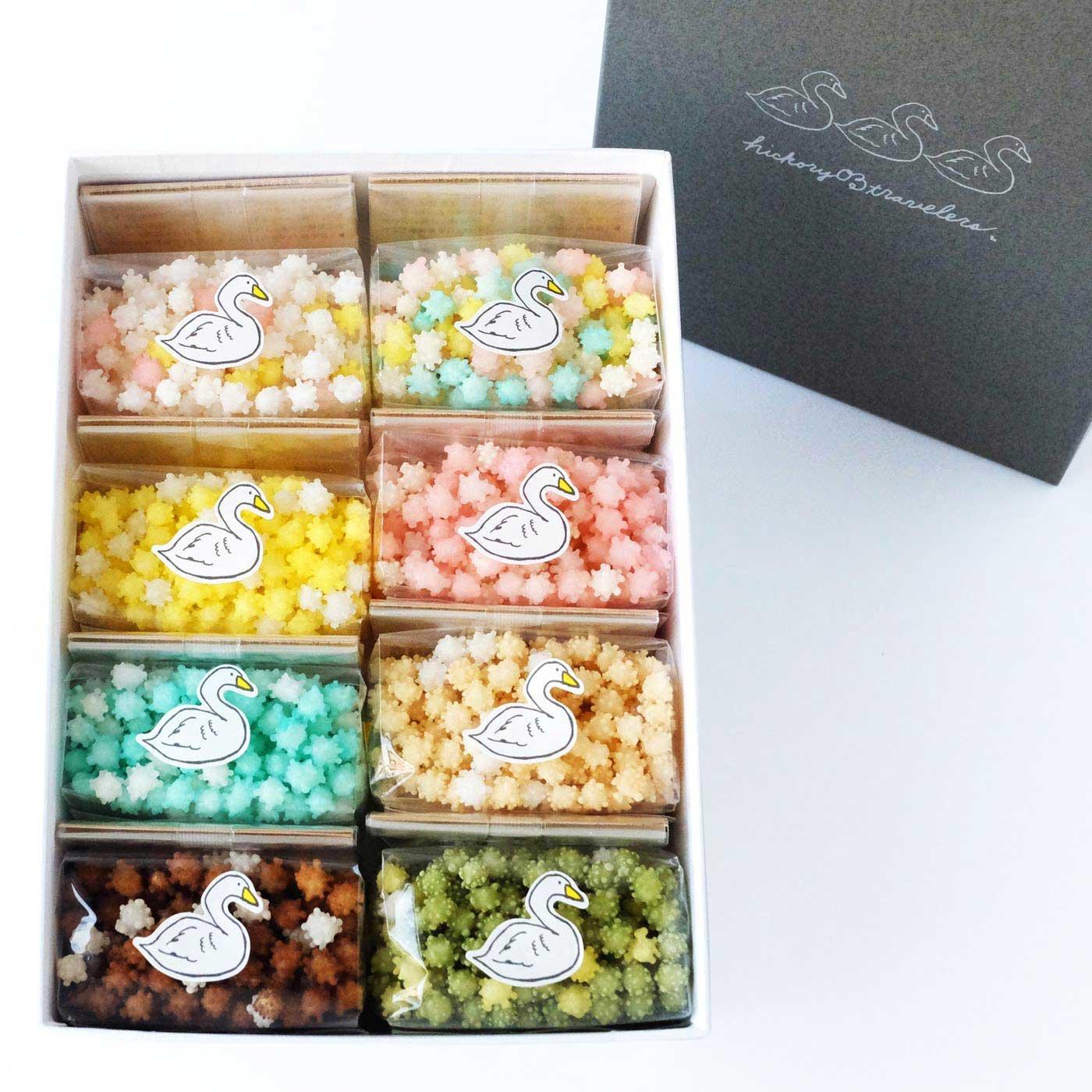 飲みものに浮かべる!? 新潟で115年続く かわいい伝統菓子「浮き星」8種類ギフトセット